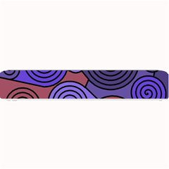 Blue and red hypnoses  Small Bar Mats