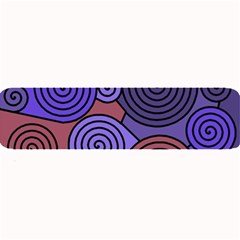 Blue and red hypnoses  Large Bar Mats