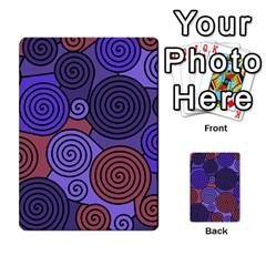 Blue and red hypnoses  Multi-purpose Cards (Rectangle)