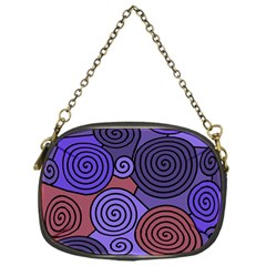Blue and red hypnoses  Chain Purses (One Side)