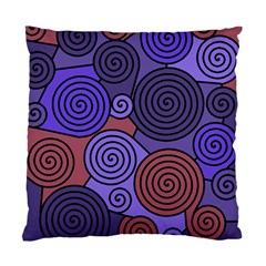 Blue and red hypnoses  Standard Cushion Case (Two Sides)
