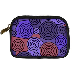 Blue and red hypnoses  Digital Camera Cases