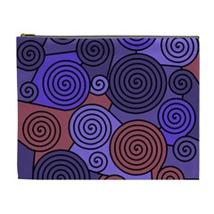 Blue and red hypnoses  Cosmetic Bag (XL)