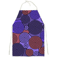 Blue and red hypnoses  Full Print Aprons
