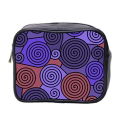 Blue and red hypnoses  Mini Toiletries Bag 2-Side