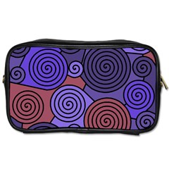 Blue and red hypnoses  Toiletries Bags
