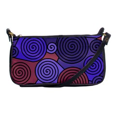 Blue and red hypnoses  Shoulder Clutch Bags