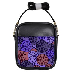 Blue and red hypnoses  Girls Sling Bags