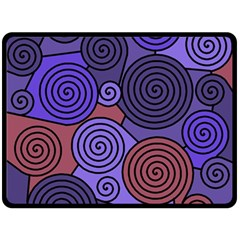 Blue and red hypnoses  Fleece Blanket (Large)