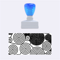 Blue and red hypnoses  Rubber Stamps (Medium)