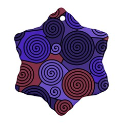 Blue and red hypnoses  Ornament (Snowflake)