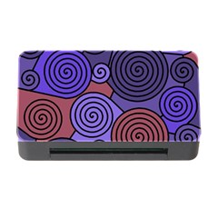 Blue and red hypnoses  Memory Card Reader with CF