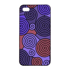 Blue and red hypnoses  Apple iPhone 4/4s Seamless Case (Black)
