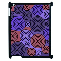 Blue and red hypnoses  Apple iPad 2 Case (Black)