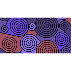 Blue and red hypnoses  YOU ARE INVITED 3D Greeting Card (8x4)