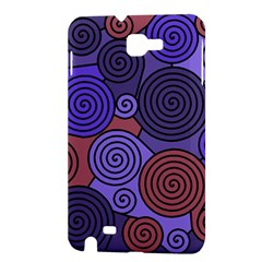 Blue and red hypnoses  Samsung Galaxy Note 1 Hardshell Case