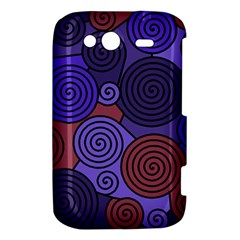 Blue and red hypnoses  HTC Wildfire S A510e Hardshell Case