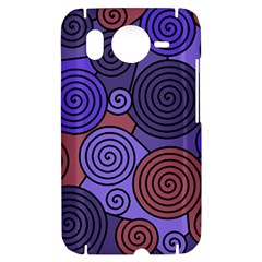 Blue and red hypnoses  HTC Desire HD Hardshell Case