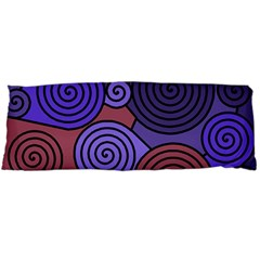 Blue and red hypnoses  Body Pillow Case Dakimakura (Two Sides)