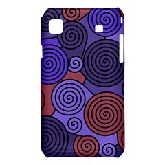 Blue and red hypnoses  Samsung Galaxy S i9008 Hardshell Case