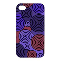 Blue and red hypnoses  Apple iPhone 4/4S Premium Hardshell Case