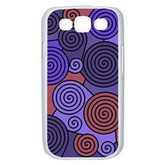 Blue and red hypnoses  Samsung Galaxy S III Case (White)