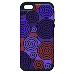 Blue and red hypnoses  Apple iPhone 5 Hardshell Case (PC+Silicone)