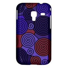 Blue and red hypnoses  Samsung Galaxy Ace Plus S7500 Hardshell Case
