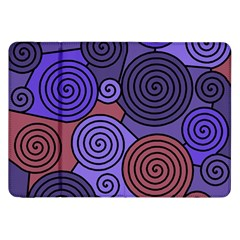 Blue and red hypnoses  Samsung Galaxy Tab 8.9  P7300 Flip Case
