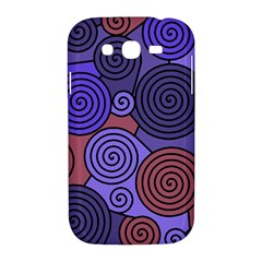 Blue and red hypnoses  Samsung Galaxy Grand DUOS I9082 Hardshell Case