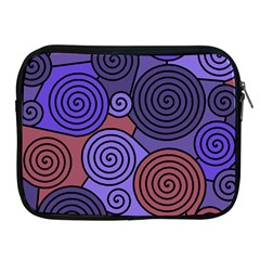 Blue and red hypnoses  Apple iPad 2/3/4 Zipper Cases