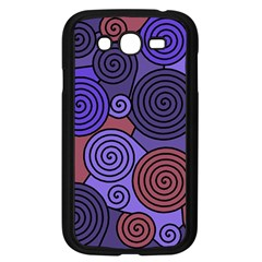 Blue and red hypnoses  Samsung Galaxy Grand DUOS I9082 Case (Black)