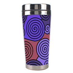 Blue and red hypnoses  Stainless Steel Travel Tumblers