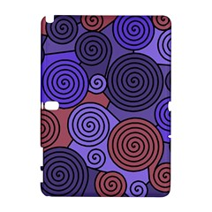 Blue and red hypnoses  Samsung Galaxy Note 10.1 (P600) Hardshell Case