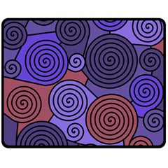 Blue and red hypnoses  Double Sided Fleece Blanket (Medium)