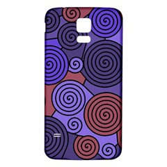 Blue and red hypnoses  Samsung Galaxy S5 Back Case (White)