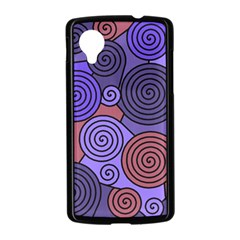 Blue and red hypnoses  Nexus 5 Case (Black)