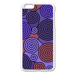 Blue and red hypnoses  Apple iPhone 6 Plus/6S Plus Enamel White Case