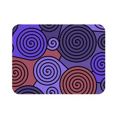Blue and red hypnoses  Double Sided Flano Blanket (Mini)