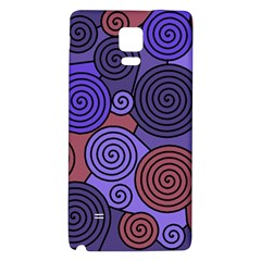 Blue and red hypnoses  Galaxy Note 4 Back Case