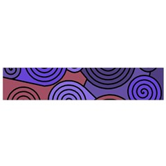 Blue and red hypnoses  Flano Scarf (Small)