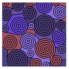 Blue and red hypnoses  Large Satin Scarf (Square)