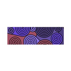 Blue and red hypnoses  Satin Scarf (Oblong)