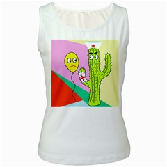 Health insurance  Women s White Tank Top