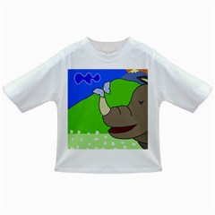 Butterfly and rhino Infant/Toddler T-Shirts