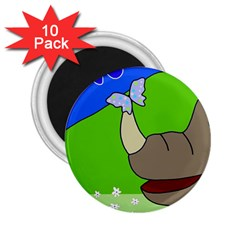 Butterfly and rhino 2.25  Magnets (10 pack)