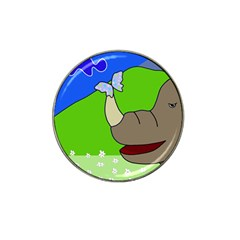 Butterfly and rhino Hat Clip Ball Marker (4 pack)