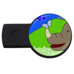 Butterfly and rhino USB Flash Drive Round (4 GB)