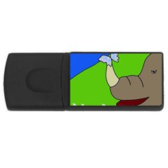 Butterfly and rhino USB Flash Drive Rectangular (4 GB)