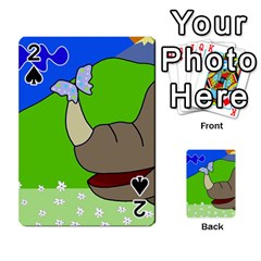Butterfly and rhino Playing Cards 54 Designs